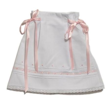 4611-T-Faldón cintura piqué blanco