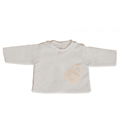 2196100-Camisa de batista con bordado blanco