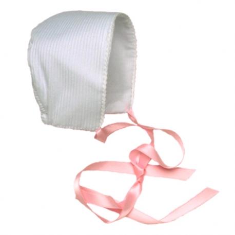 4878T-Capota de pique blanco-rosa