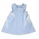 4801T-Vestido de piqué de canutlillo azul