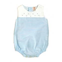 4823T-Pelele de piqué rayas azules
