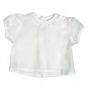 5955-Camisa MC de batista con bordado blanco