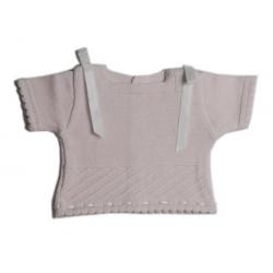 Jersey de perlé MC Rosa-Bco