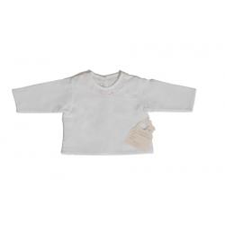 2196120-Camisa de batista con bordado rosa
