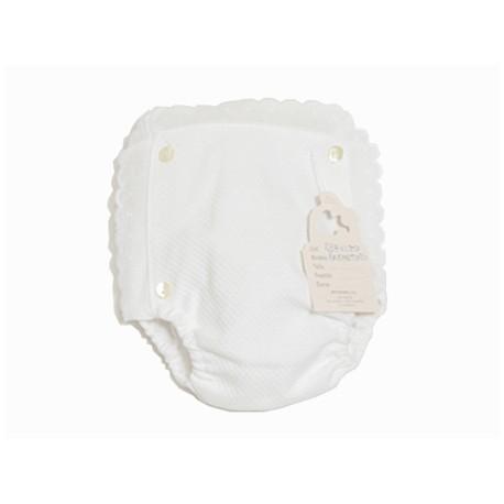 Cubrepañal de piqué blanco